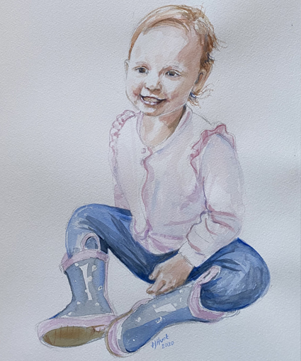 17-Patricia-Hunt-watercolour-girl-portrait